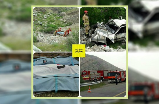 سقوط خودرو پژو پارس به عمق ۱۵۰ متری دره روستای وردیج از توابع بخش کن موجب فوت ۳ سرنشین آن خودرو شد.