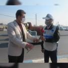 قدردانی شهروندان از سربازان پلیس راهور