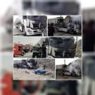 حریق خودرو کشنده تریلی در یکی از معادن شهرقدس